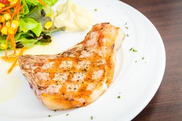 Pork chops steak