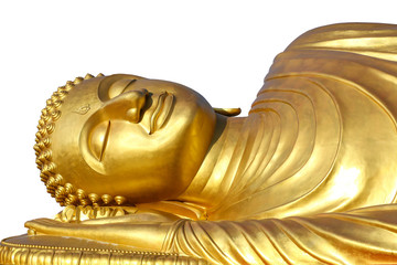 reclining Buddha on white background