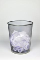 Papierkorb - Energieverschwendung