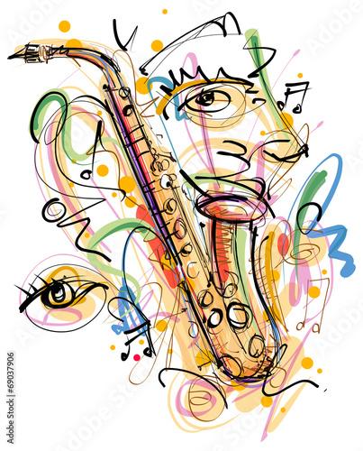 Fototapete Music Art Sketch
