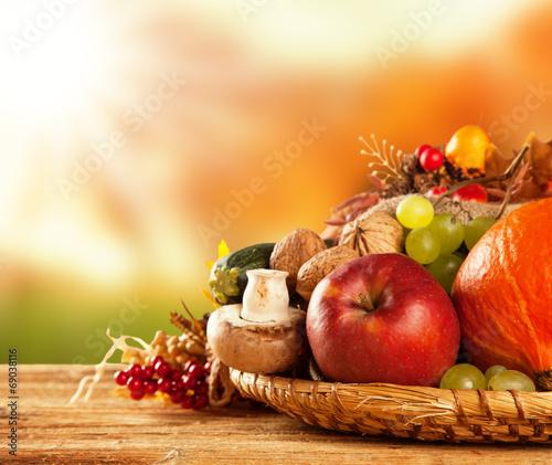 Обои для рабочего стола начало осени фрукты и овощи