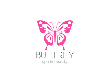Butterfly Logo vector design. Spa Beauty salon Logotype