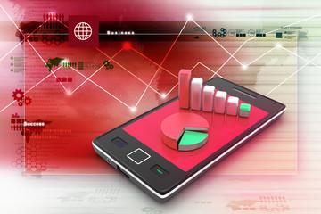 Graph on smart phone