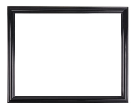 Isolated black picture frame