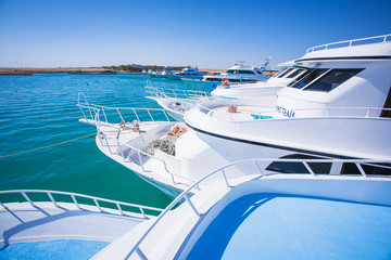 Travel .Luxury boats