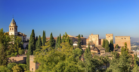Alhambra Church Castle Towers Granada Andalusia Spain