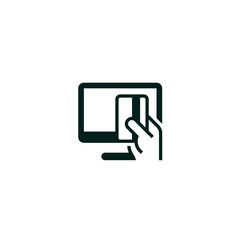 Online payment symbol