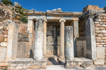 antique ruins at Ephesus, Turkey