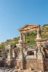 Ruins of the Fountain of Traian in  Ephesus, Turkey