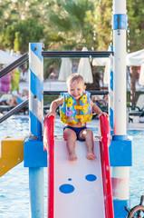 Little boy in waterpark
