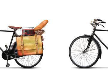 Fototapete - Classic urban bike with the loaded trunk