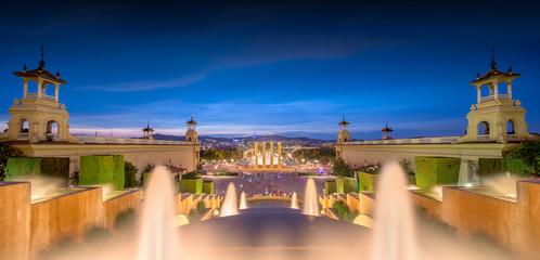 Autocollant pour porte Barcelona night view of Magic Fountain in Barcelona