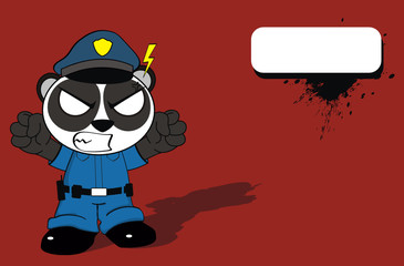 panda bear cop cartoon background9