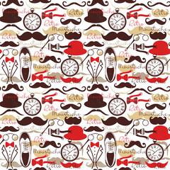 Retro vintage seamless pattern.