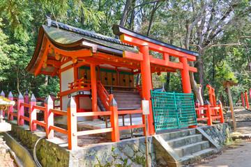 Small sanctuary in Kasuga Grand Shrine. Nara, Japan