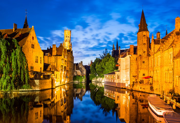 Wall Murals Bridges Rozenhoedkaai, Bruges in Belgium
