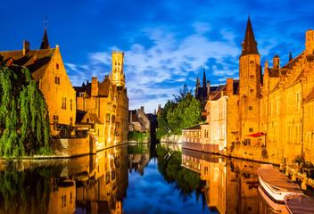 Rozenhoedkaai, Bruges in Belgium