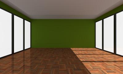 Home green interior rendering