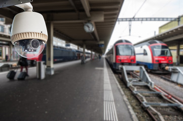 CCTV on train station