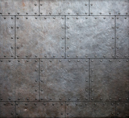 Wall Mural - metal armor plates background