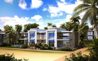 Apartment house on the beach
