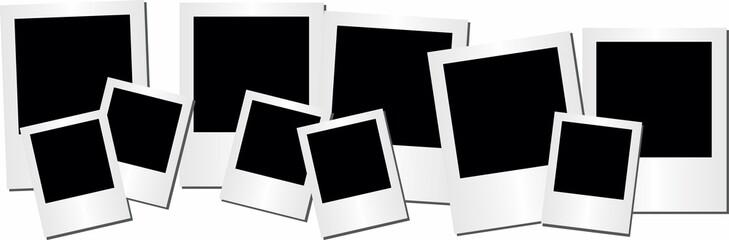 Retro photo frame on white background