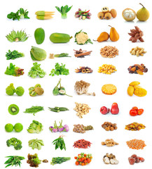 collection of food isolated on white background