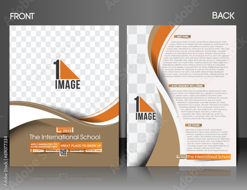 Back To Flyer Template | The International School Front Back Flyer Template Stock Image