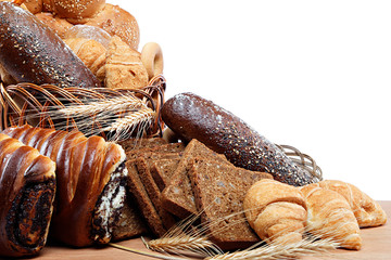 Fresh breads for a variety.