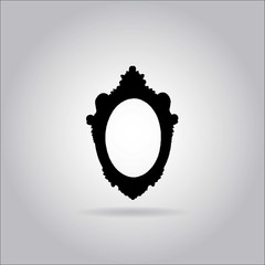 Illustration on grey background with shadow - Mirror