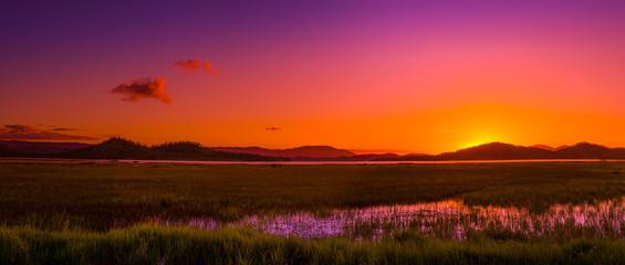 Fotobehang Crimson Sunset-australian outback