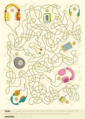 Headphones maze game