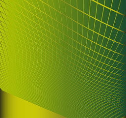 Wave abstract background green color