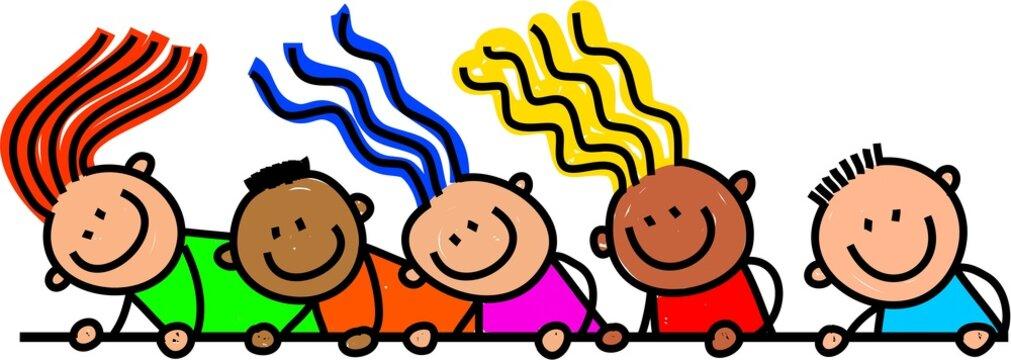 Happy Page Border Kids