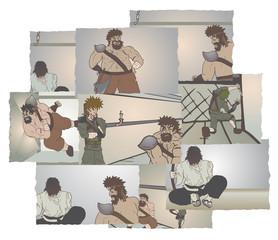 Many scenes comic