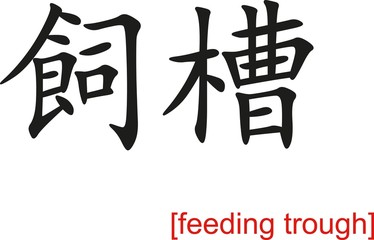 Chinese Sign for feeding trough