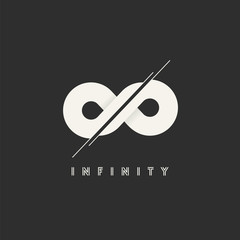 Infinity Vector Concept Symbol Icon or Logo Template