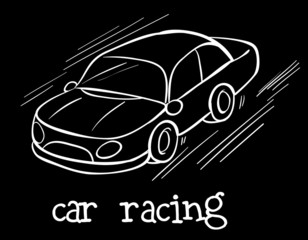 A car racing