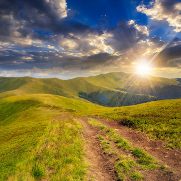 morning walks at sunset