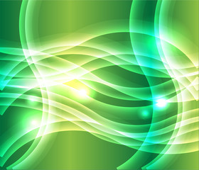 Waves of light green background vector
