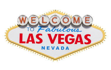 Tuinposter Las Vegas Las Vegas Welcome Sign Cut Out