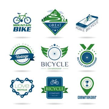 Bicycle icon set - 2