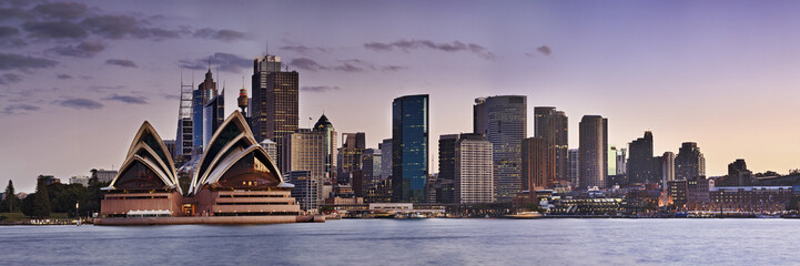 Deurstickers Australië Sydney CBD Kirribilli close panorama