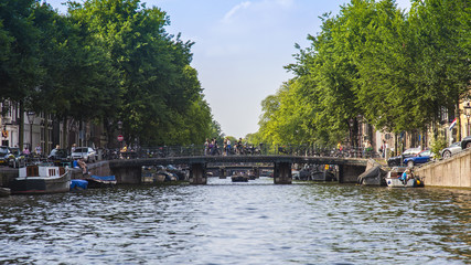 Amsterdam, Netherlands, on July 10, 2014. A typical urban view