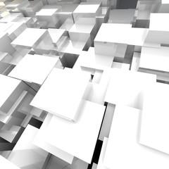 White 3D Blocks Background