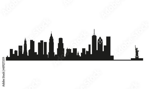 skyline new york stockfotos und lizenzfreie vektoren auf bild 69127339. Black Bedroom Furniture Sets. Home Design Ideas