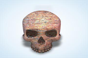 Old Brick Wall Skull Series II
