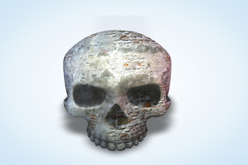 Damaged Brick Wall Skull Series II