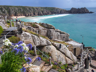 Flowers in front of the Minack Theatre