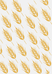 Background with ear of wheat